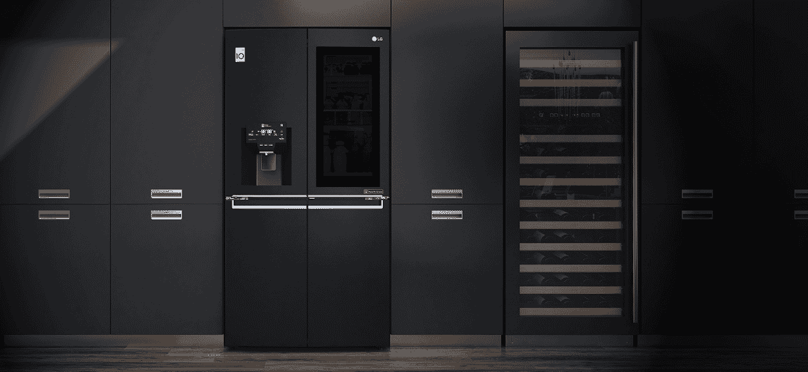 LG Matte Black Fridge