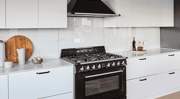 Freestanding oven cooktop