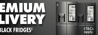 Free Premium delivery on LG InstaView and Matte Black Fridges | The Good Guys