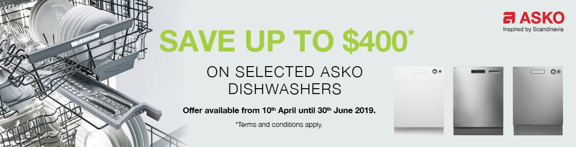 Save up to $400 on selected Asko Dishwashers | The Good Guys