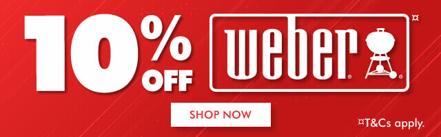 10% off Weber BBQs & Accessories | The Good Guys
