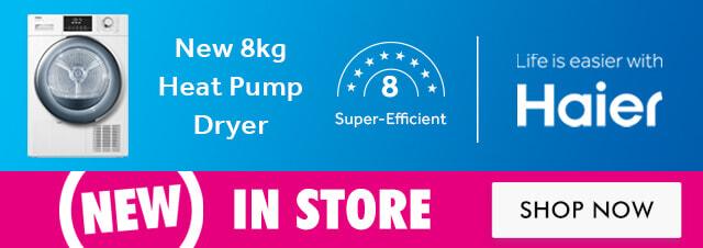 New Haier 8kg Heat Pump Dryer | The Good Guys