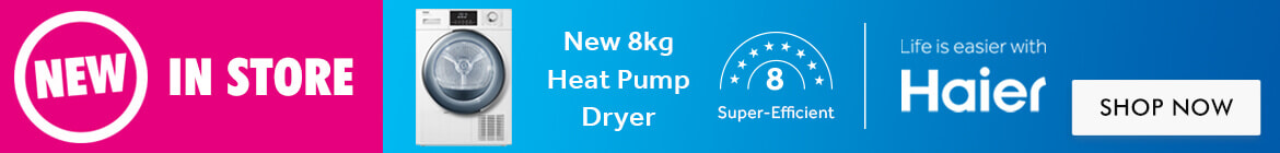 New Haier 8kg Heat Pump Dryer | The Good Guys