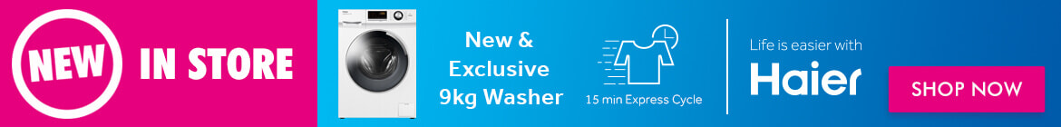 New Haier 9kg HFront Load Washer | The Good Guys