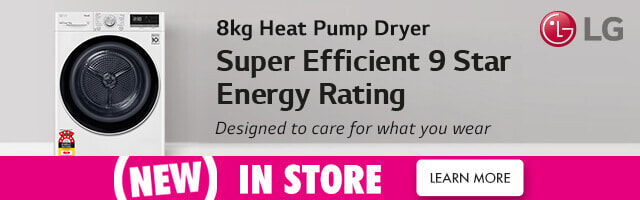 New LG Heat Pump Dryer | The Good Guys