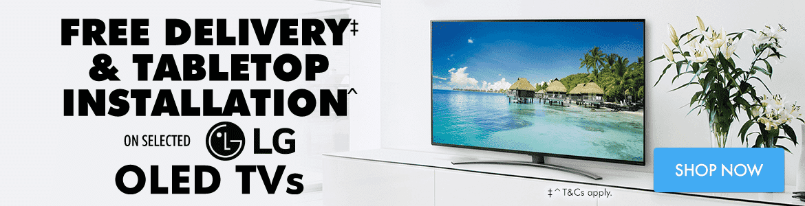 Free Delivery & Tabletop Installation on Selected LG OLED TVs | The Good Guys