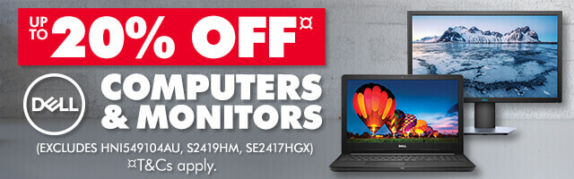 20% off Dell Computers & Monitors | The Good Guys