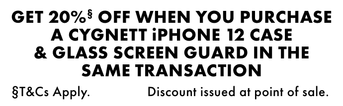 Bonus 20% off on Cygnett iPhone 12 case | The Good Guys