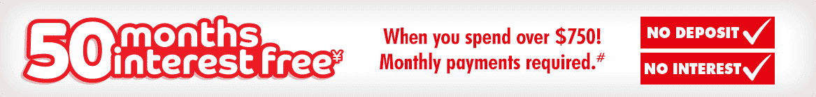 50 Months Interest Free | The Good Guys