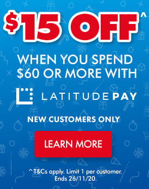 Spend $60 on LatitudePay and get a Bonus $15 | The Good Guys