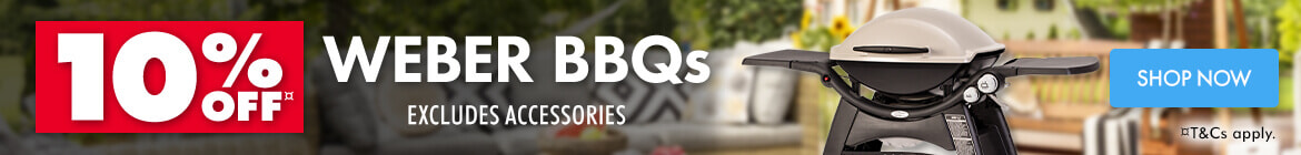 10% off Weber BBQ's | The Good Guys