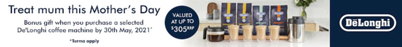 Bonus gifts when you purchase De'Longhi coffee machines  | The Good Guys