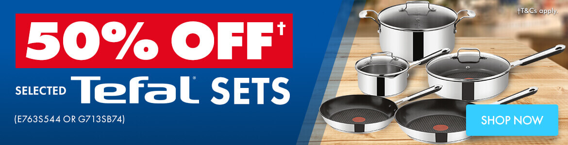 Shop 50% off Selected Tefal Promotion   The Good Guys
