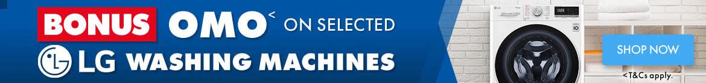 Bonus OMO on selected LG Washing Machines | The Good Guys