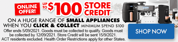 Store Credit on a Huge Range of Applainces online only   The Good Guys