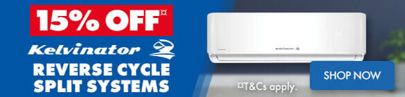 15% off Kelvinator Reverse Cycle Split Systems | The Good Guys