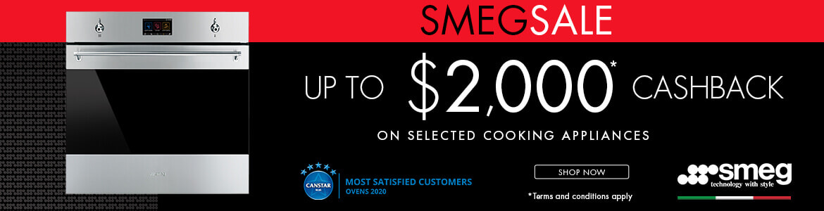 Smeg up to $2000 cashback on selected cooking appliances   The Good Guys