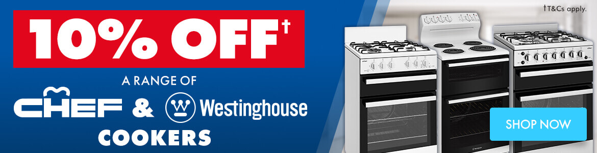10% Off Chef & Westinghouse Cookers | The Good Guys