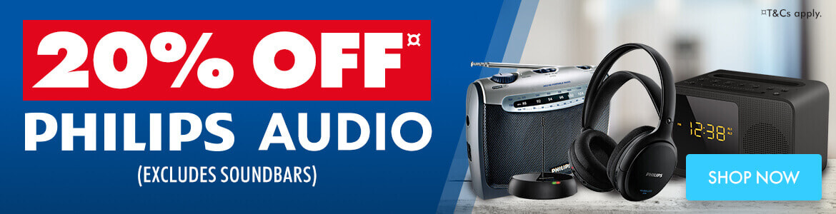 Shop 20% off Philips Audio  | The Good Guys