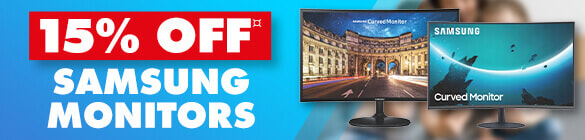 15% off Samsung monitors    The Good Guys