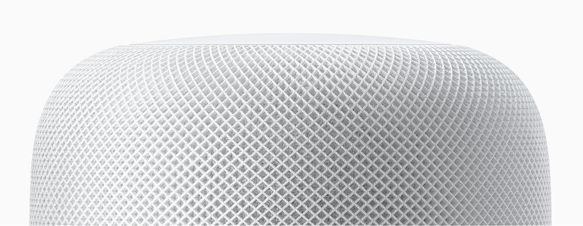 Shop Apple HomePod now at The Good Guys. The mesh fabric is designed for a seamless aesthetic and better acoustic performance.
