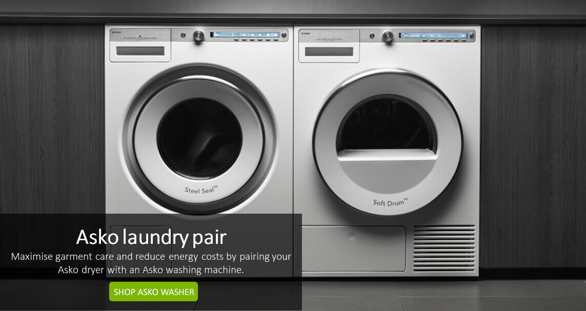 Asko washing machines are designed to perfectly complement Asko clothes dryers. Available at the good Guys.