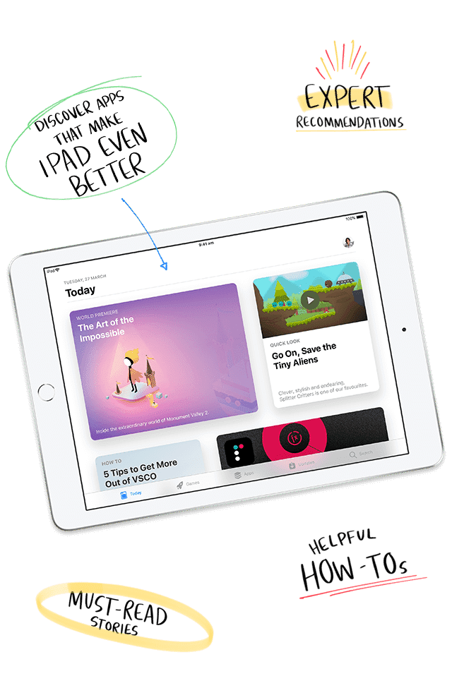 Apple iPad has 1.3 million apps for everything you love doing – photography, playing music, watching videos, getting work done and more. Shop now at The Good Guys.