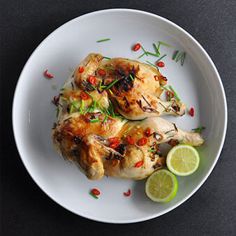 Quick-Roasted Butterflied Coconut Chicken