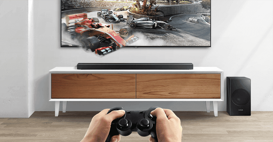 Samsung HW-N650 soundbar has a game setting that optimises the sound quality when you play compatible games.