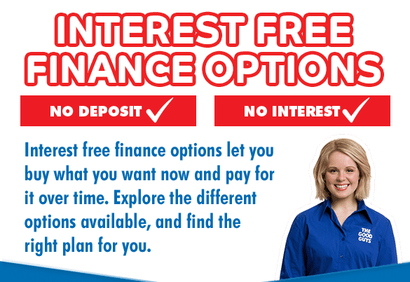 Interest free finance options