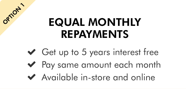 Equal monthly repayments
