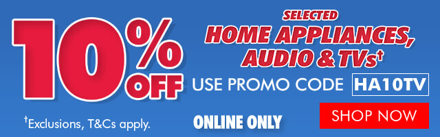 10% off selected Home Appliances, Audio & TVs  | The Good Guys