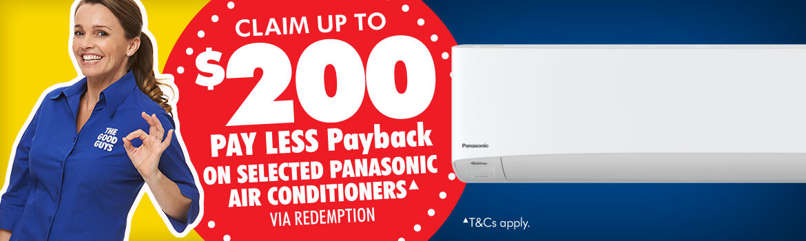 Panasonic Aircon Promotion at The Good Guys