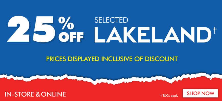 25% off Lakeland Sale