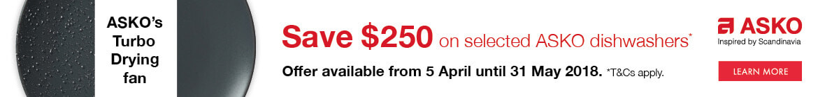 Save $250 on selected Asko dishwashers | The Good Guys