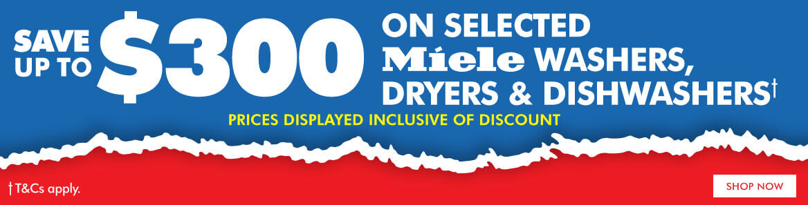 Save on selected Miele Washers, Dryers & Dishwashers | The Good Guys