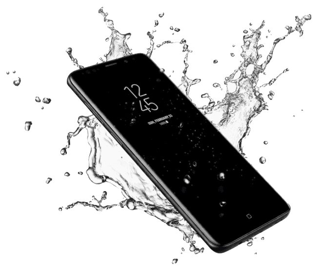 Galaxy S9 and S9+ water resistant
