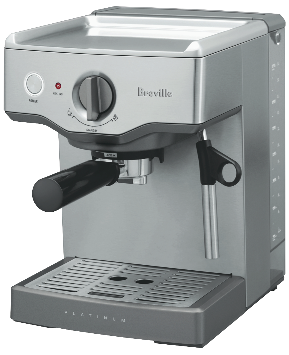 breville bes250bss compact cafe espresso machine at the good guys. Black Bedroom Furniture Sets. Home Design Ideas