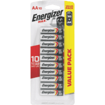 EnergizerMax AA Batteries 10 Pack - E91HP10TN10178920