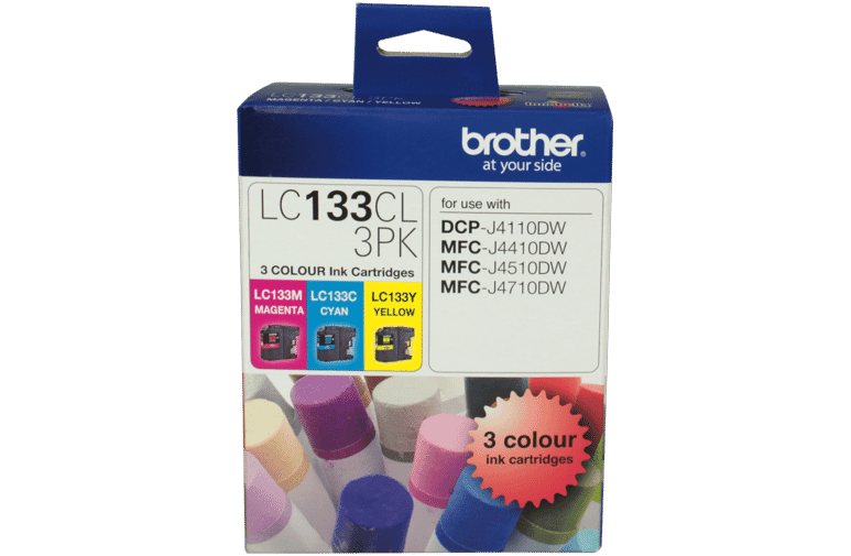 Brother LC-133CL 3PK LC-133 Colour Ink Cartridge 3 Pack at The Good Guys
