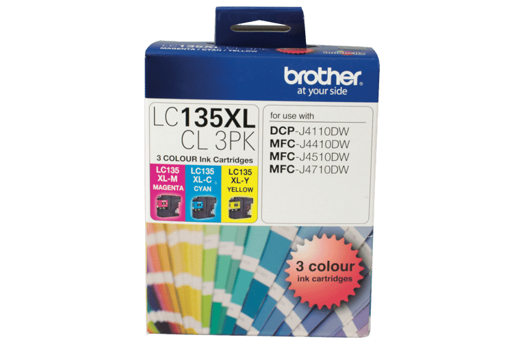 Brother LC-135XLCL 3PK LC-135 XL Colour Ink 3 Pack at The Good Guys