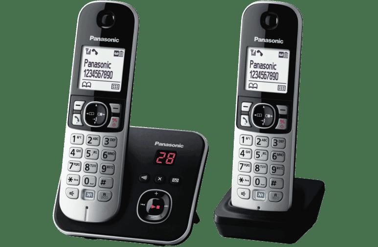 Panasonic KX-TG6822ALB Cordless Phone Twin Pack at The Good Guys