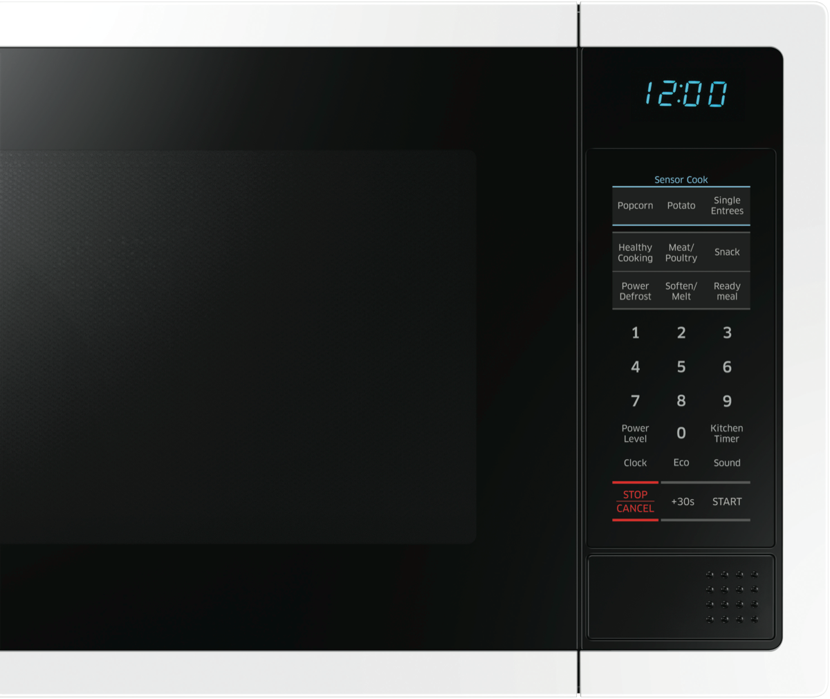 Samsung Me6124w 1 34l 1000w White Microwave At The Good Guys