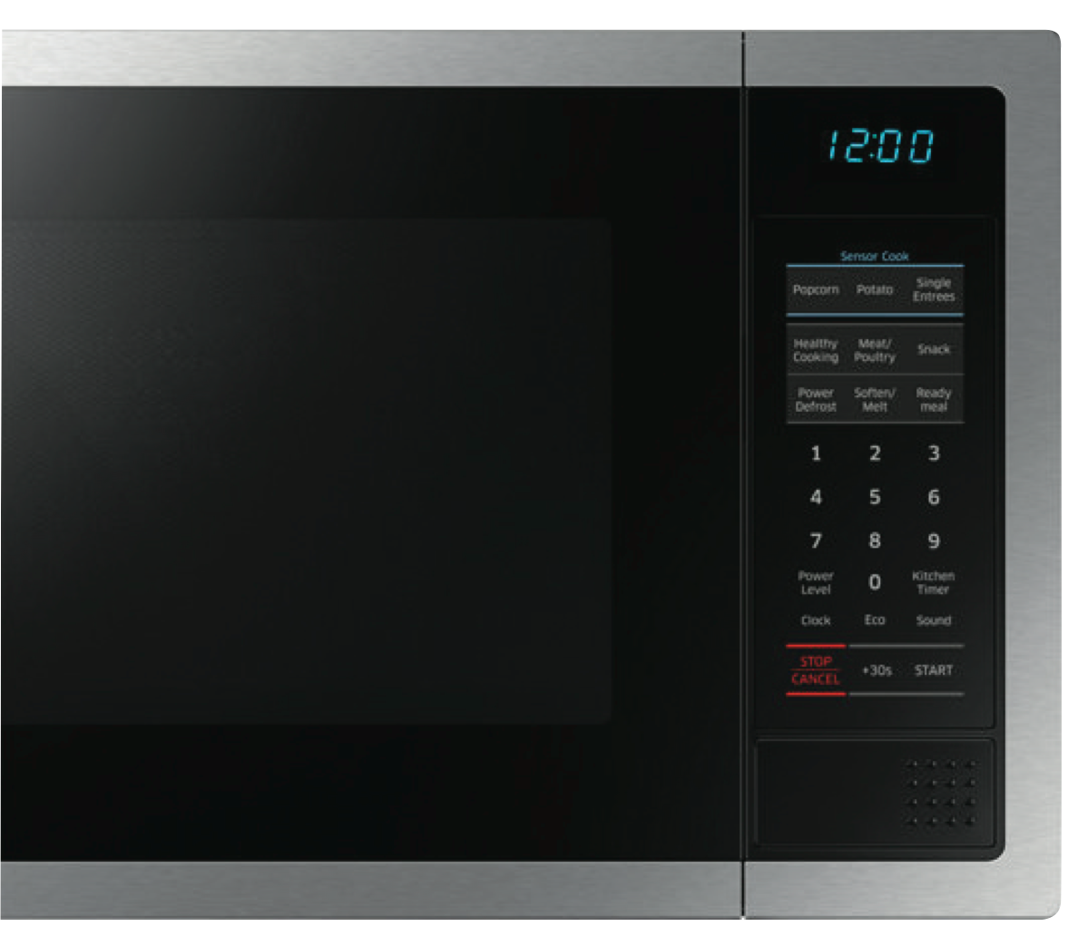 Samsung Me6124st 1 34l 1000w Stainless Steel Microwave At