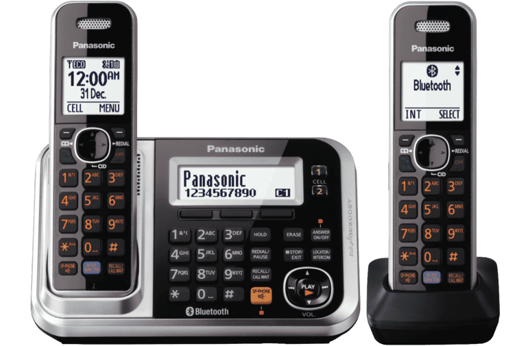 Panasonic KX-TG7892AZS Cordless Phone Twin Pack at The