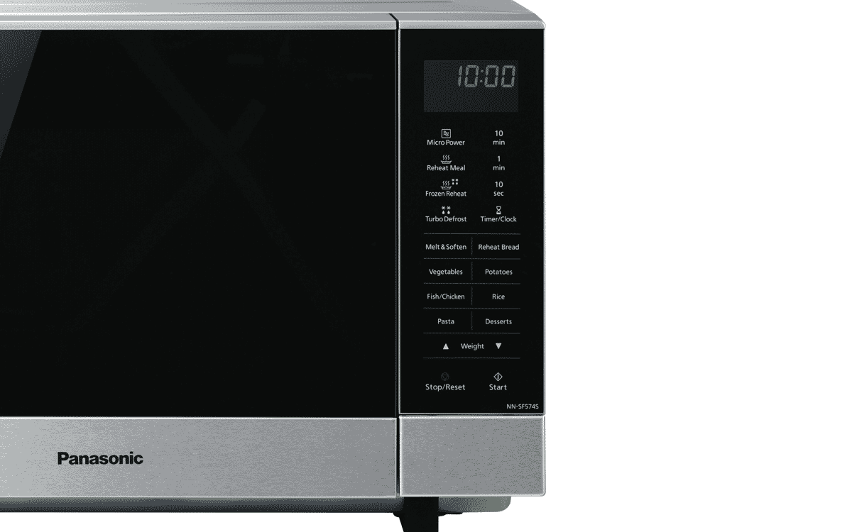 Panasonic NN-SF574SQPQ 27L 1000W Stainless Steel Inverter Microwave at The  Good Guys