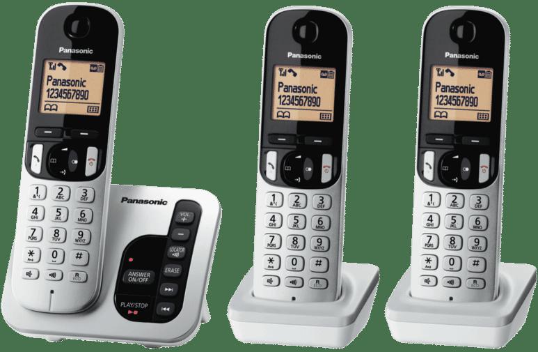 Panasonic KX-TGC223ALS Cordless Phone Triple Pack at The Good Guys