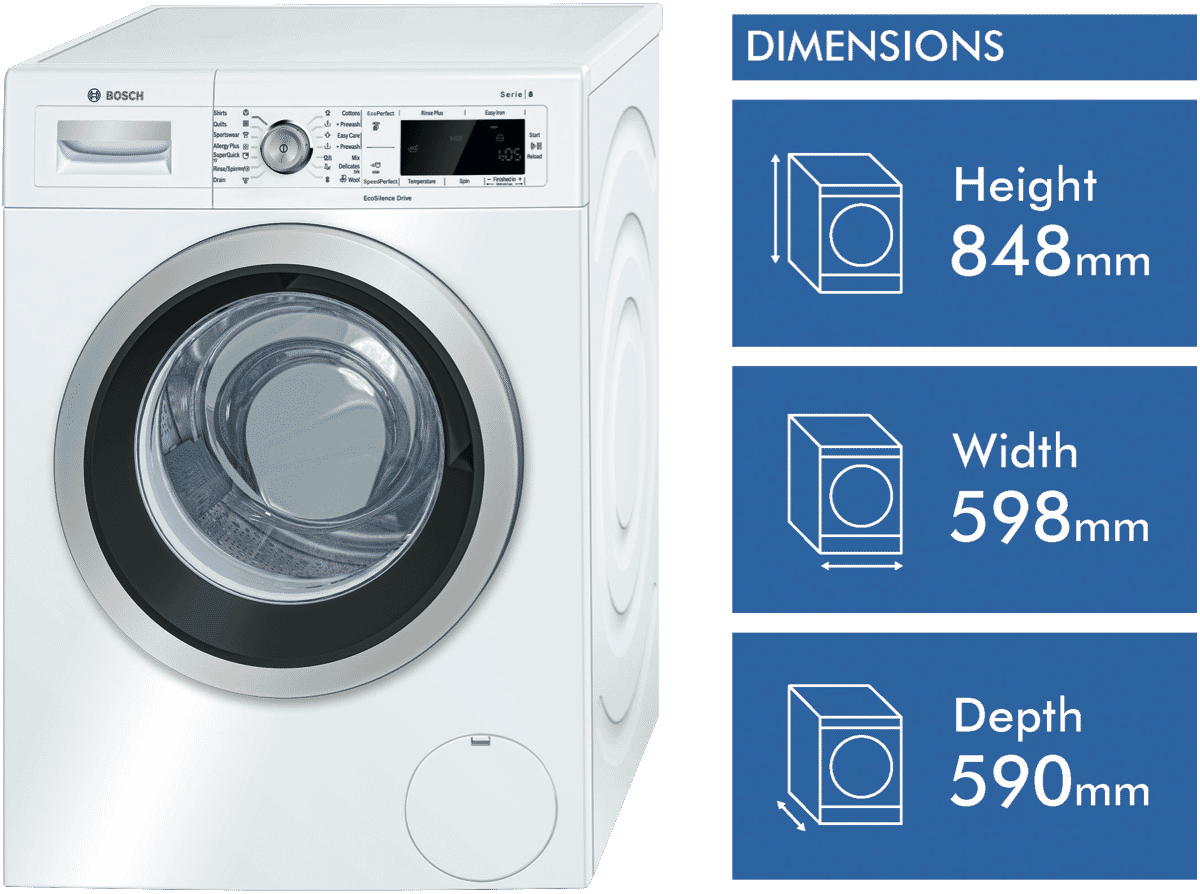 Bosch Waw28460au 8kg Front Load Washer At The Good Guys