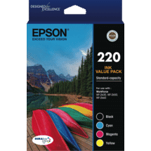 Epson220 Std Capacity DURABrite Ultra 4 ink Value Pack50034316