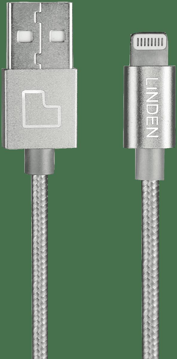LINDEN Premium Lightning Cable 1m - Silver